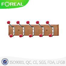 Wooden Towel Hooks with Colorful Ceramic Beads