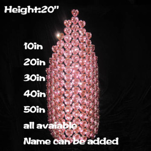 Wholesale Large Pageant Crowns With Pink Heart Diamonds