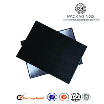 Scatola di abbigliamento di lusso in carta nera opaca standard