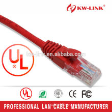 High Quality Stranded CCA UTP Cat6 Patch Leads With RJ45 Connector 1.5M