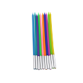 Flameless spiral birthday cake party candles