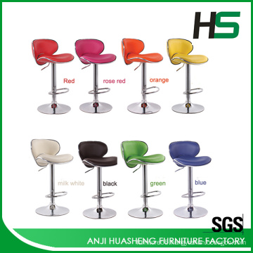 Selling aluminium colorful choice swivel bar high chair