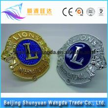Best price hot sale metal chrome 3D round car logo emblem badges
