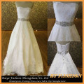 Long Train A-line Wedding Gown Sweetheart Bridal Dress Beading Lace Dress BYB-14614