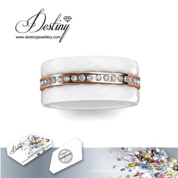 Vueltas del destino los cristales de la joyería de Swarovski 3 anillo