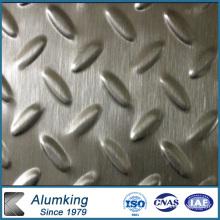 Placa de aluminio a cuadros de diamante para el paquete