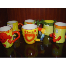 Dolomite Cups Handmalerei Glasierte Tasse