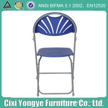 Cadeira de dobradura azul plástica do quadro do metal para o partido