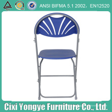 Металлический каркас, пластик синий складной стул для партии