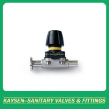 Mini manual diaphragm valves weld and clamp end