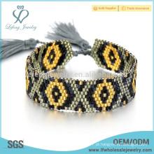 Pulseiras populares da boêmia, jóia das grânulos da semente pulseiras para mulheres