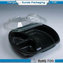 Placas de plástico para crianças com microondas, com tampa