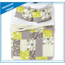 Floral Patchwork Design Printed Polyester Quilt Set