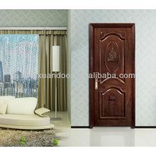 Porta de madeira de entrada clássica, porta de madeira exterior, design de porta