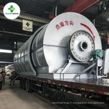 Pneus de rebut d'HUAYIN réutilisant à l'huile, usine de pyrolyse de pneu avec le système de recyclage de l'eau de recyclage