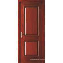 Zwei Panel rot lackiert furnierte Drehflügeltüren innen MDF für Hotel