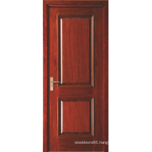 Two Panel Red Painted Veneered Swing Interior MDF Doors for Hotel
