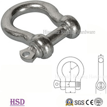 E. Tipo europeo galvanizado grillete de arco grande de hardware de aparejo