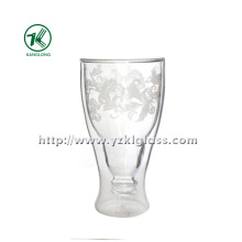 Double Wall Glass Bottle by SGS (8.5*5.5*16 320ML)