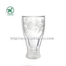 Garrafa de vidro de parede dupla por SGS (8.5 * 5.5 * 16 320ML)