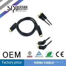 SIPU tudo novo cabo HDMI para HDMI rotação 360 com 19pin testes de 100%