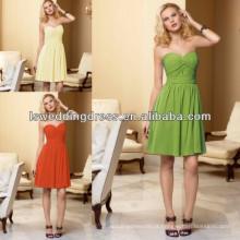 HB2002 Hot venda de qualidade superior preço de fábrica OEM aceitado Elegante maçã verde chiffon vestidos padrões de vestidos de dama de honra