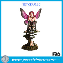 Ornamento de estatueta de resina de fada da beleza