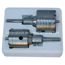 2PCS Hollow Hammer Drills Set with 65 and 80mm Diameter