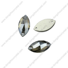 Dz-3066 Großhandel Navette Nähen auf Steinen für Kleid