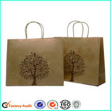 Cheap kraft brown shopping paper bags