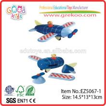 Heißer Verkauf scherzt hölzernes magnetisches Flugzeug-Spielzeug