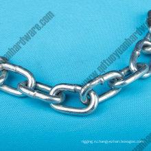 Обычные мягкой стальной цепи короткая ссылка цепи