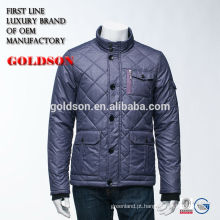 Men's Shining Goose Down Jacket Fabricação Zhejiang Brand Clothing