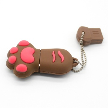 Pvc Cartoon Paw Unidad flash USB personalizada