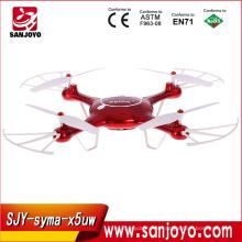 Сыма X5UW Дрон 2,4 г 4-канальный радиоуправляемый вертолет Дрон Квадрокоптер с WiFi камера HD 720р в режиме реального времени передачи fpv горючего SJY-X5UW