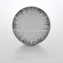 A055 haute qualité et nouveau design assiette en céramique de luxe pour hôtel