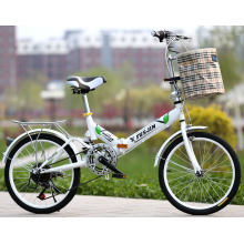 High Quality  20inch Aluminum  Alloy 8 Speed Folding Bicycle