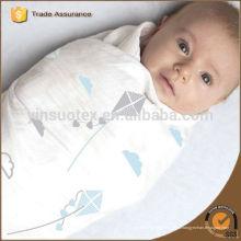 Hot Europe bonne qualité mode Bébé enfants swaddling bambou raie rayée Gaze douce Nouveau-né Couverture bébé arbre hibou print