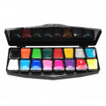 Kits de peinture de visage de couleurs vibrantes de peinture non toxique de maquillage