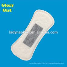 155mm Unique sauerstoff baumwolle ultra soft pflanzliche panty liner Mit grau ionen kern