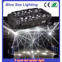 8pcs 12W 4in1 Spinnen-bewegliches Hauptlicht LED-Spinnen-Lichtstrahl-Licht-LED-Spinnen-Licht