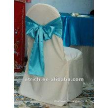 Housses de chaises de polyester de 100 % avec ceinture satin