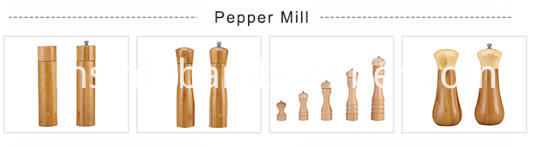 Bamboo pepper mill