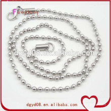 Fashion high quality metal stainless steel ball chain
