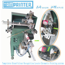 Máquina de impresión cromática de posicionamiento de botellas redondas