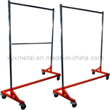 Vêtements Heavy Duty Rolling Z Garment Racks de vêtements Stand