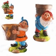 Godet en poudre Polyresin pour jardin Décoration de gnome de jardin