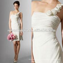 Юбка драпированные одно плечо декольте коктейльное свадебное платье