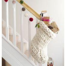 Merino Crochet Christmas sock holder