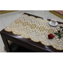 50cm de comprimento de ouro / prata PVC vinil Crochet Toalha de mesa